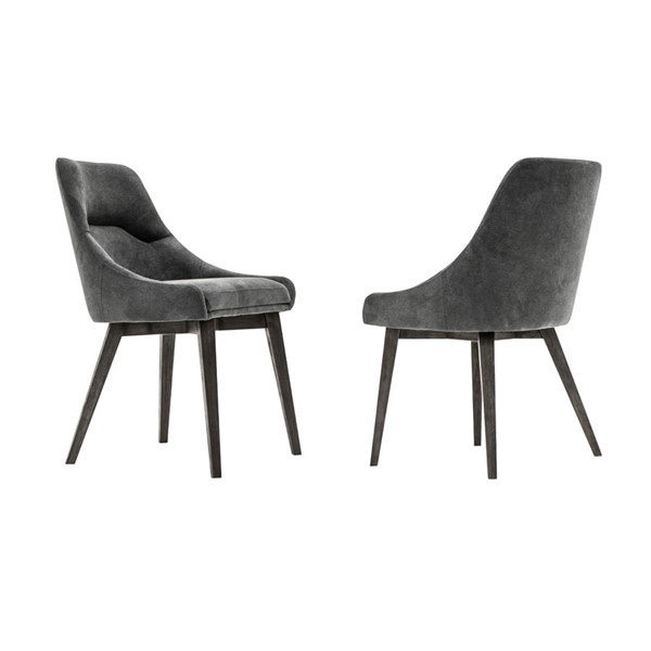 2 Armen Living Lileth Tundra Grey River Upholstered Dining Chairs ARM-LCLHCHTGRV