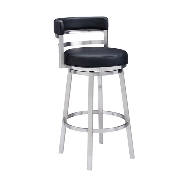 Armen Living Madrid Black Counter Height Bar Stool ARM-LCMABABSBL26