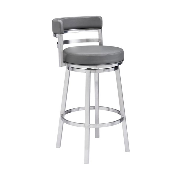 Armen Living Madrid Grey Bar Stool ARM-LCMABABSGR30
