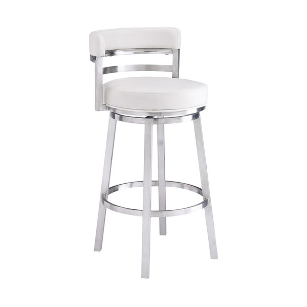 Armen Living Madrid White Counter Height Bar Stool ARM-LCMABABSWH26