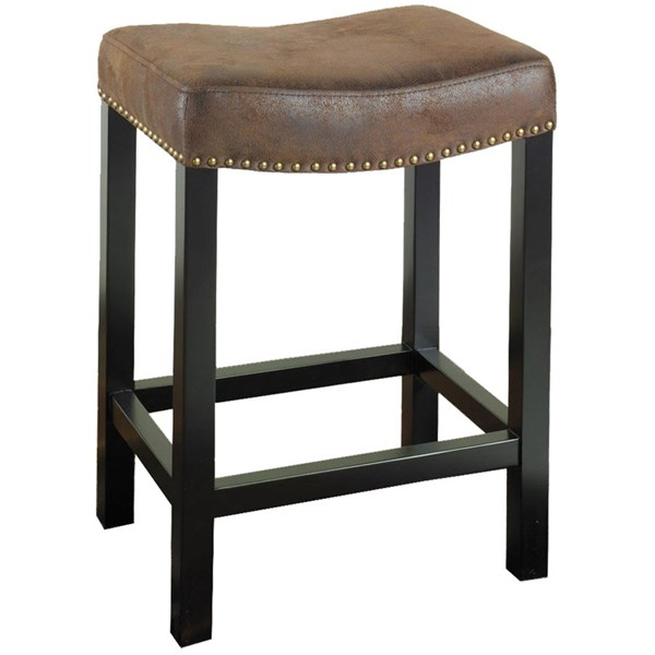 Armen Living Tudor Brown 26 inch Stationary Counter Stool ARM-LCMBS013BAWR26