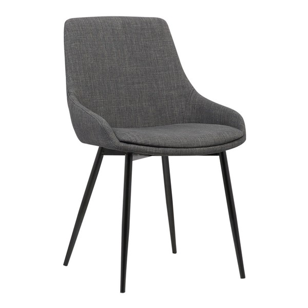 Armen Living Mia Charcoal Dining Chair ARM-LCMICHCH