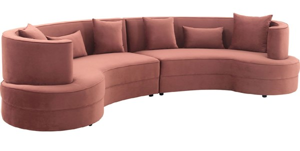 Armen Living Majestic Blush Fabric Sectional Sofa ARM-LCMJSEBLUSH
