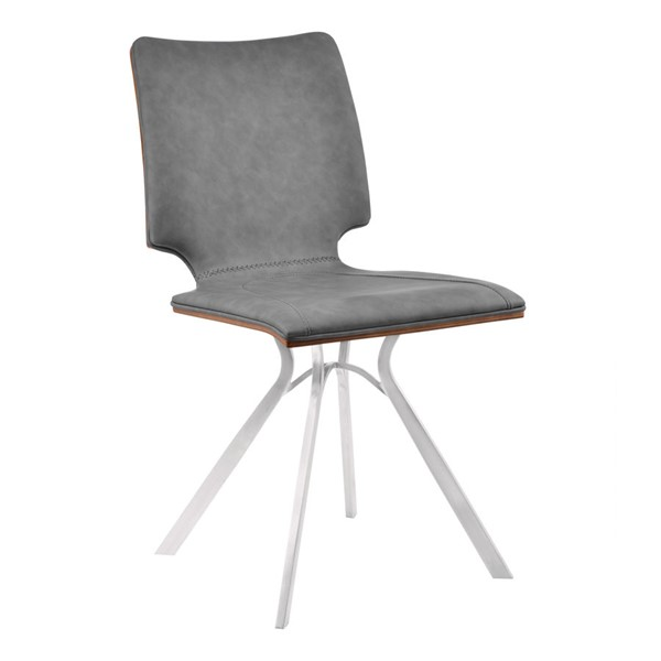 Armen Living Marley Vintage Grey Black Dining Chair ARM-LCMLSIVGBSWA-CH-VAR
