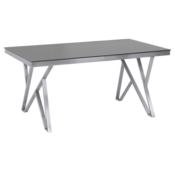 Armen Living Mirage Grey Brushed Dining Table ARM-LCMRDITOGG
