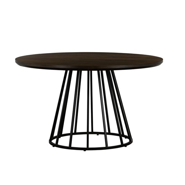 Armen Living Motion Dark Grey Wood Round Dining Table ARM-LCMTDIOA