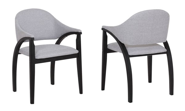 2 Armen Living Meadow Grey Dining Chairs ARM-LCMWCHBLGR