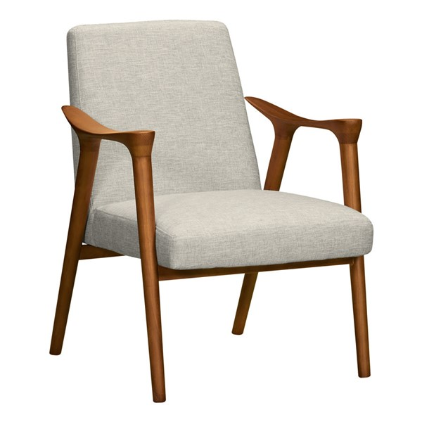 Armen Living Nathan Beige Accent Chair ARM-LCNTCHBE