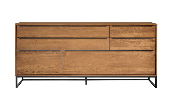 Armen Living Nevada Rustic Oak Wood Balsamico Sideboard ARM-LCNVBUBAL