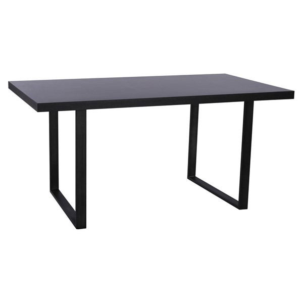 Armen Living Newark Powder Coated Gray Rusted Black Dining Table ARM-LCNWDIRU