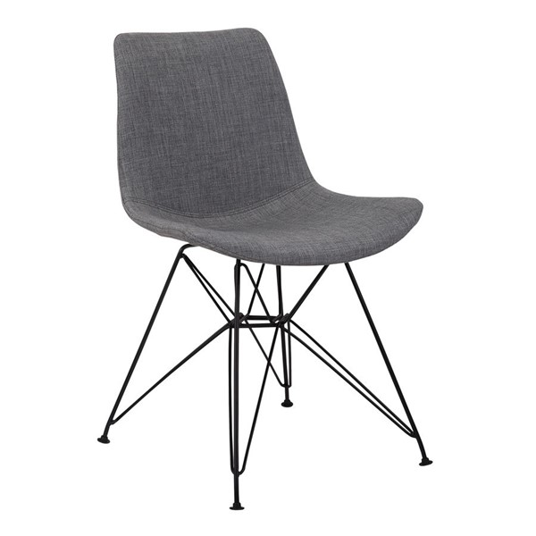 Armen Living Palmetto Charcoal Grey Dining Chair ARM-LCPLCHBLCH-CH-VAR