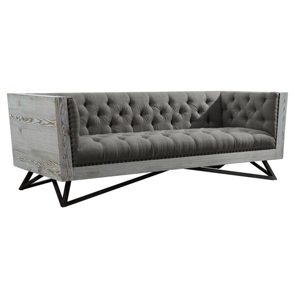 Armen Living Regis Grey Sofa ARM-LCRE3GR