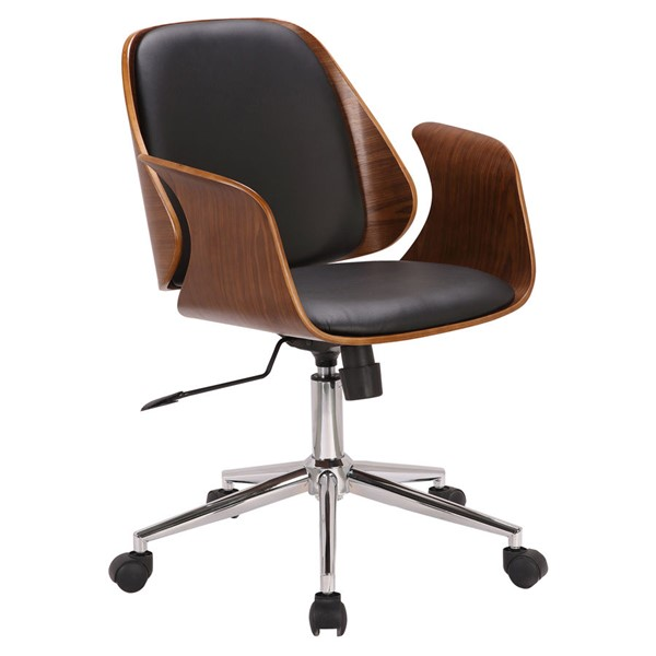 Armen Living Santiago Black Office Chair ARM-LCSGOFCHWABL