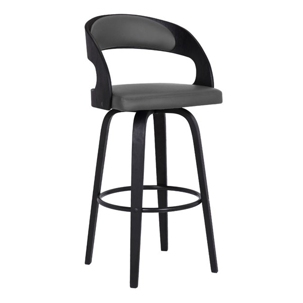 Armen Living Shelly Grey 30 Inch Swivel Bar Height Stool