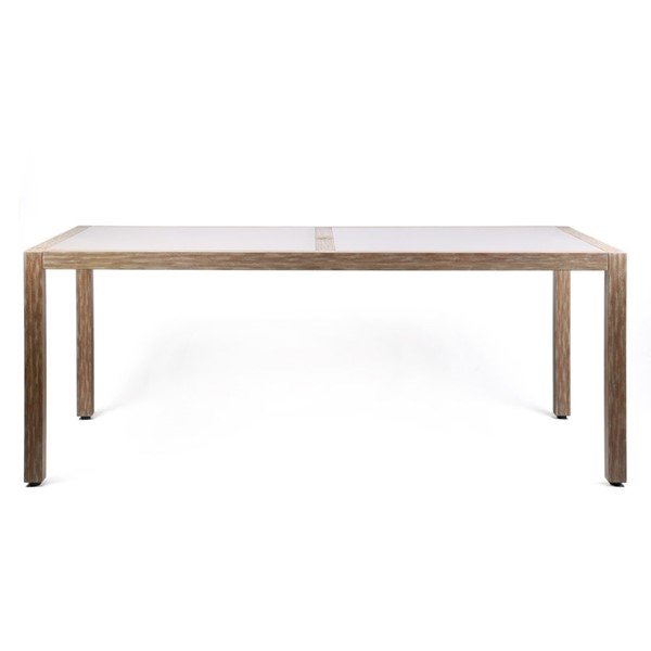 Armen Living Sienna Light Teak Outdoor Patio Dining Tables ARM-LCSIDI-OUT-DT-VAR