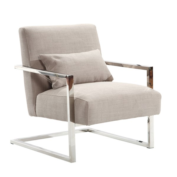 Armen Living Skyline Gray Accent Chair ARM-LCSKCHGR