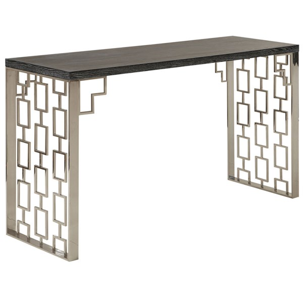 Armen Living Skyline Charcoal Console Table ARM-LCSKCNBLMT