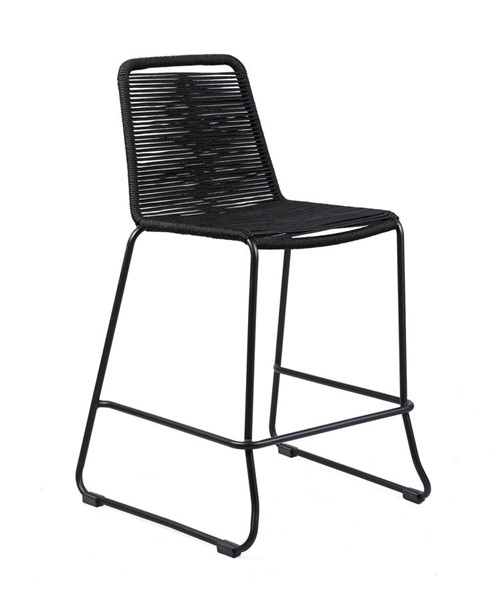 Armen Living Shasta Black Rope 30 Inch Outdoor Stackable Bar Stools ARM-LCSSBA30-OUT-BS-VAR