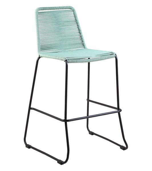 Armen Living Shasta Wasabi Rope 30 Inch Outdoor Stackable Bar Stool ARM-LCSSBAWSB30