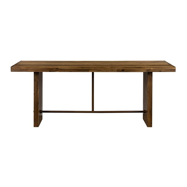 Armen Living Superb Matte Brass Wood Dining Table ARM-LCSUDIRU