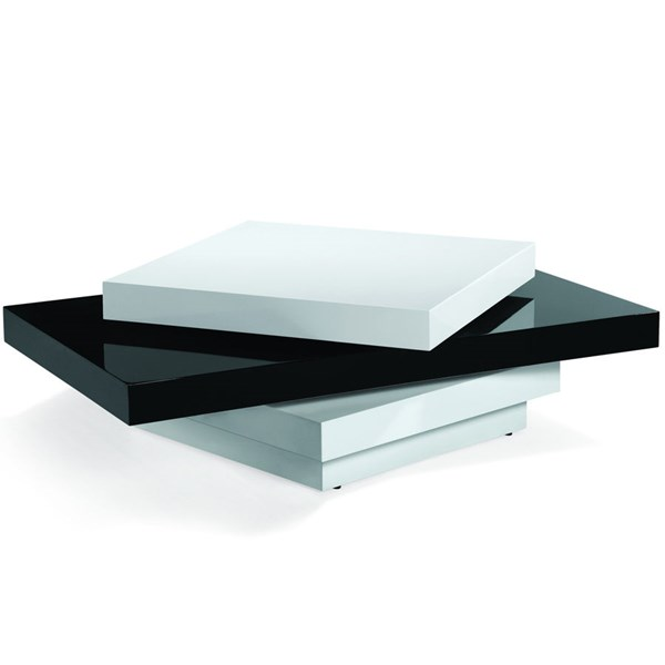 Armen Living Black White Coffee Table ARM-LCT54COBW