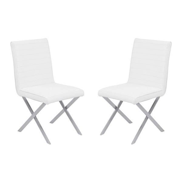 2 Armen Living Tempe White Dining Chairs ARM-LCTESIWHBS