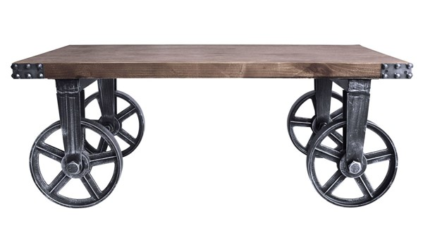 Armen Living Trego Grey Pine Wood Coffee Table ARM-LCTGCOSBPI