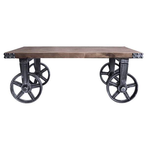 Armen Living Trego Grey Pine Industrial Coffee Table ARM-LCTGCOSBPI