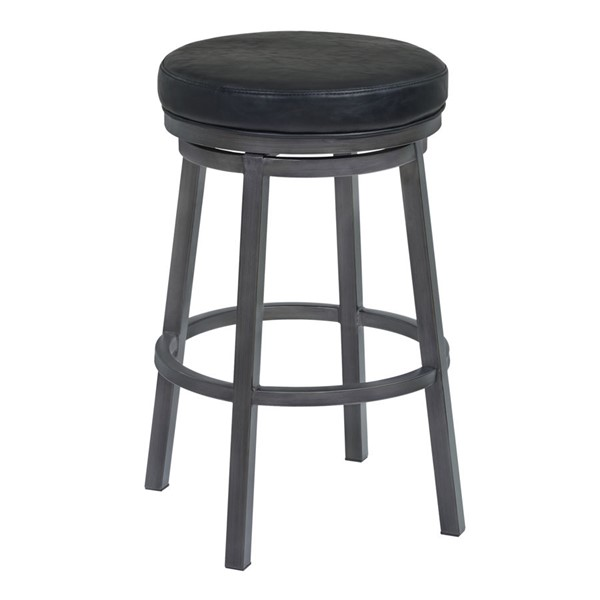 Armen Living Tilden Ford Black Faux Leather 26 Inch Swivel Counter Height Stool ARM-LCTIBAMFBL26
