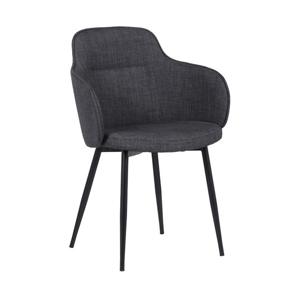 Armen Living Tammy Black Charcoal Fabric Dining Chair ARM-LCTMSICHBLK