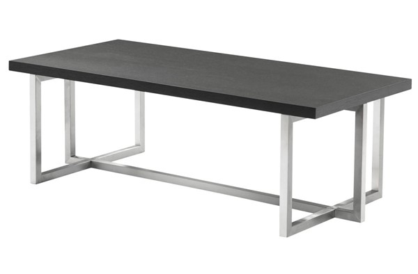Armen Living Topaz Grey Brushed Coffee Table ARM-LCTPCOGRBS