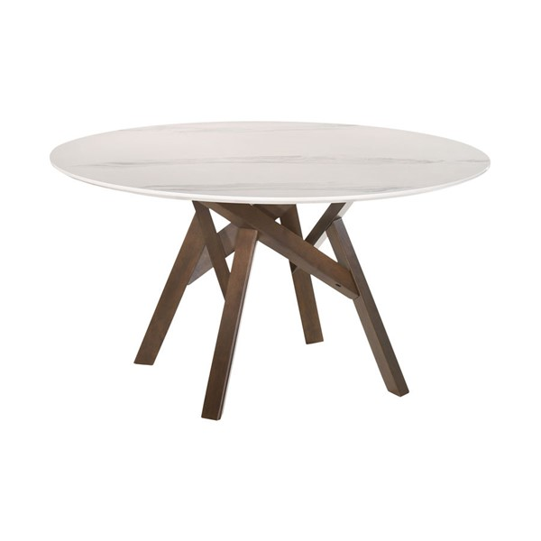 Armen Living Venus Marble Wood 54 Inch Round Dining Tables ARM-LCVEDI-DT-VAR