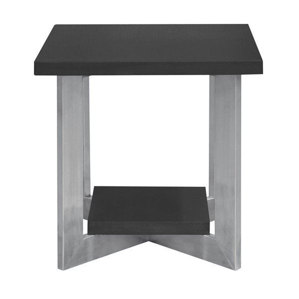 Armen Living Vermont Grey End Table ARM-LCVMLAGR