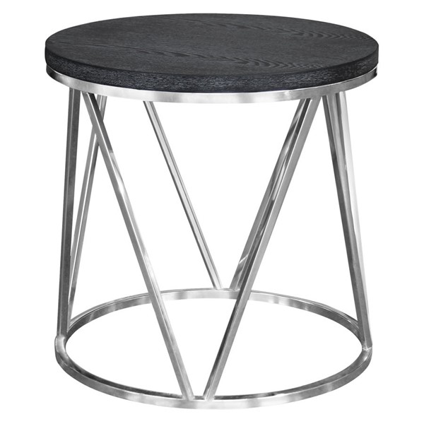 Armen Living Vivian Grey End Table ARM-LCVVLAGR