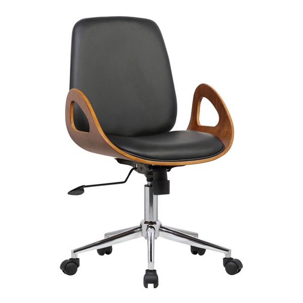 Armen Living Wallace Black Office Chair ARM-LCWAOFCHBLACK