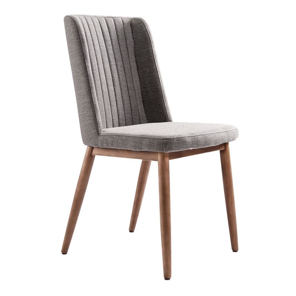 2 Armen Living Wade Gray Dining Chairs ARM-LCWDSIGR