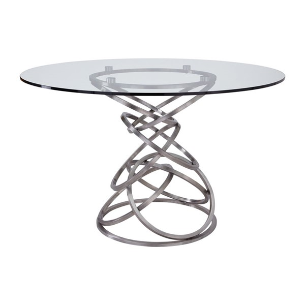 Armen Living Wendy Clear Glass Dining Table ARM-LCWNDIBS