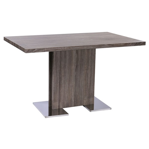 Armen Living Zenith Grey Dining Table ARM-LCZEDIGRTO