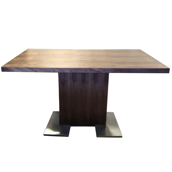 Armen Living Zenith Walnut Dining Table ARM-LCZEDIWA