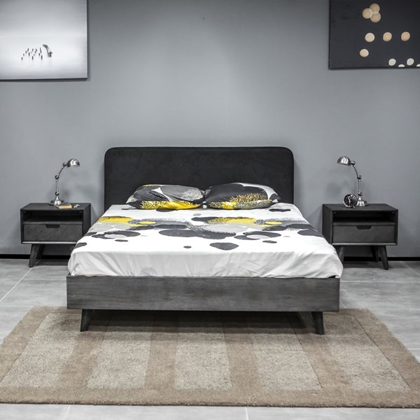 Armen Living Mohave Tundra Grey 3pc Queen Bed and Nightstands Bedroom Set ARM-SETMVBDQN3A