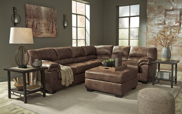 Ashley Furniture Bladen RAF Sofa and Ottoman Sectionals 12000-SEC-VAR4