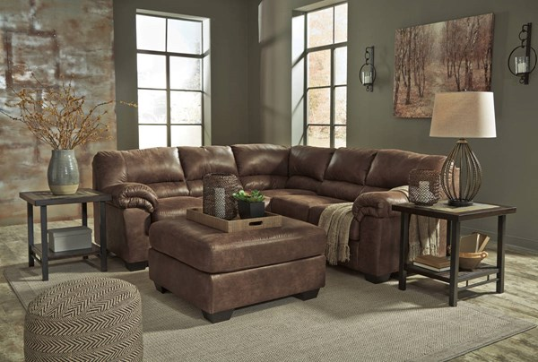 Ashley Furniture Bladen RAF Loveseat and Ottoman Sectionals 12000-SEC-VAR8