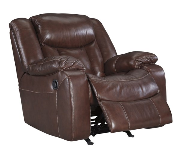 Amaroo Contemporary Brown Leather Rocker Recliner 1361025