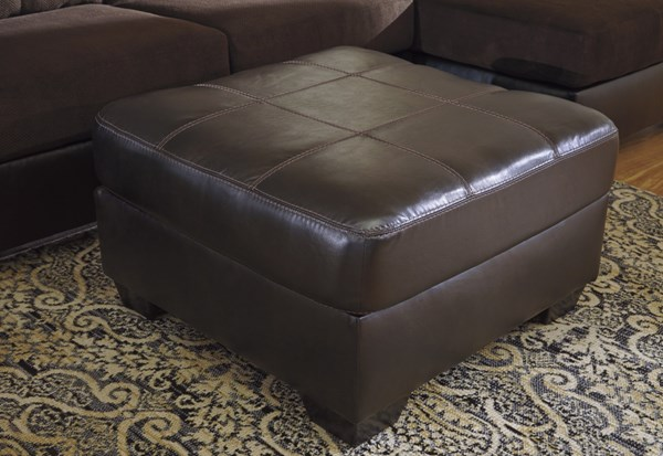 Vanleer Contemporary Chocolate PVC Oversized Accent Ottoman 1590008