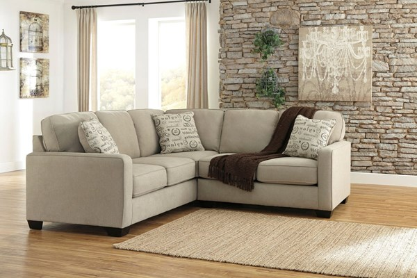 Alenya Quartz Fabric Track Arms Sectional W/RAF Loveseat & LAF Sofa 1660046-SEC4