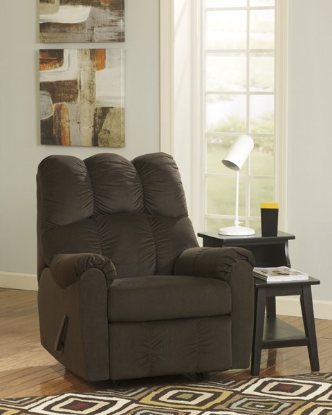 Raulo Chocolate Polyester Rocker Recliner 1750025