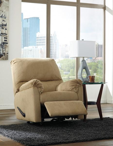 Aluria Contemporary Mocha Chocolate Rocker Recliners 18201-REC-VAR