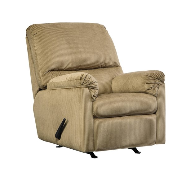 Aluria Contemporary Mocha Rocker Recliner 1820125