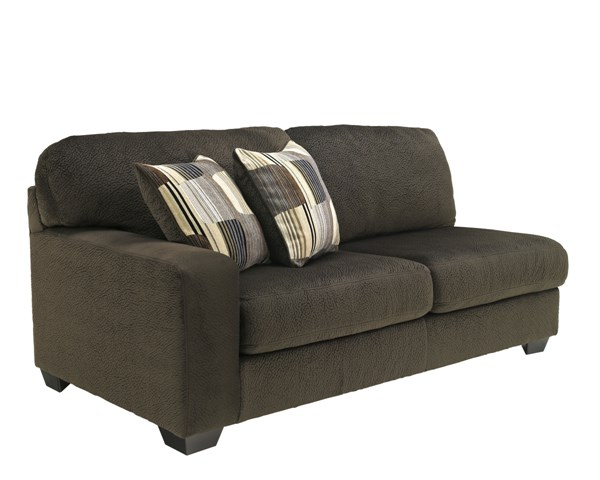 Westen Contemporary Chocolate Wood Fabric LAF Sofa 1950066