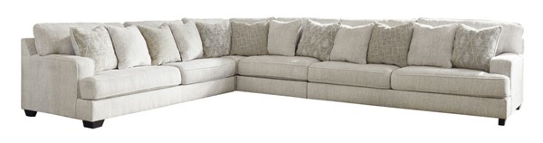 Ashley Furniture Rawcliffe Casual Parchment LAF Sectional With Ottoman 19604-SEC-S3